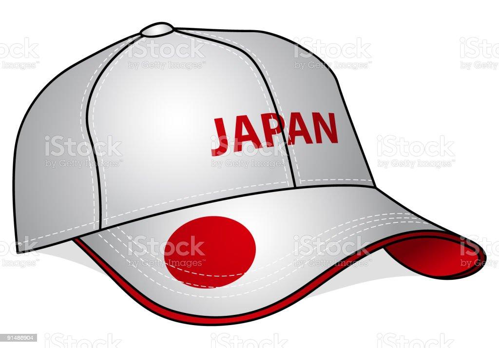 Baseball Cap - Japan royalty-free stock vector art