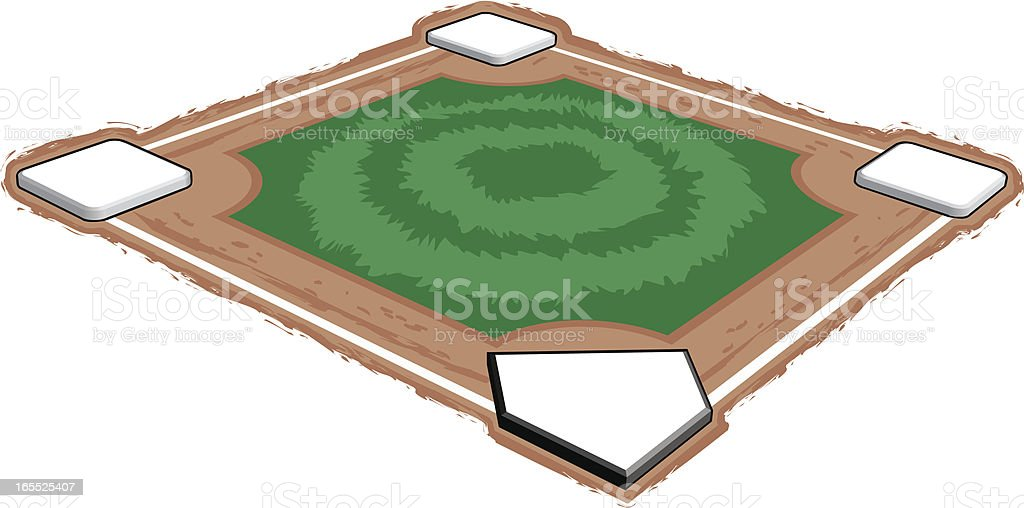 Baseball Field 3-D vector art illustration