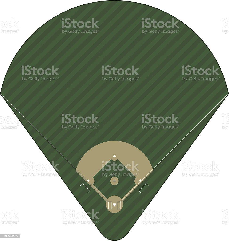 Baseball Field royalty-free stock vector art