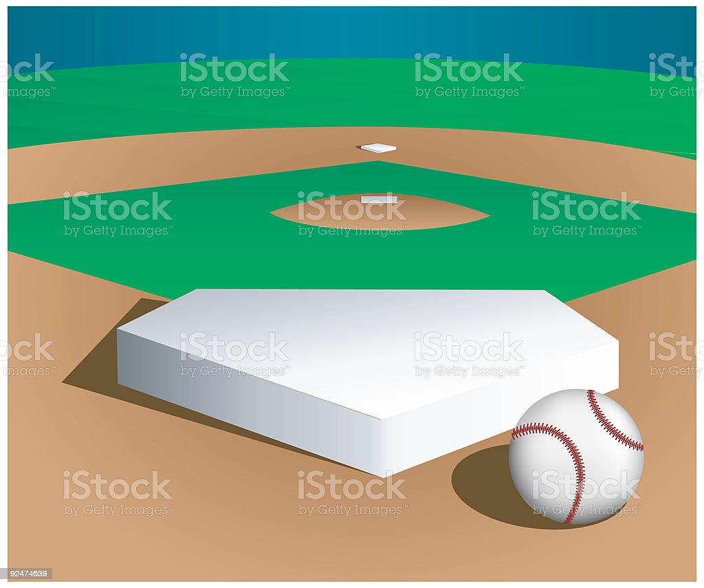 Baseball Home Plate - Vector vector art illustration
