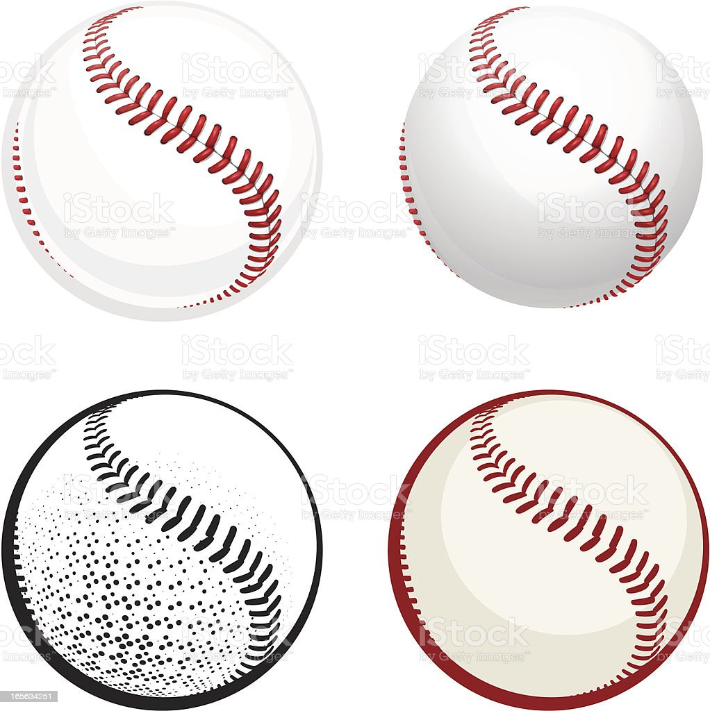 Baseball royalty-free stock vector art