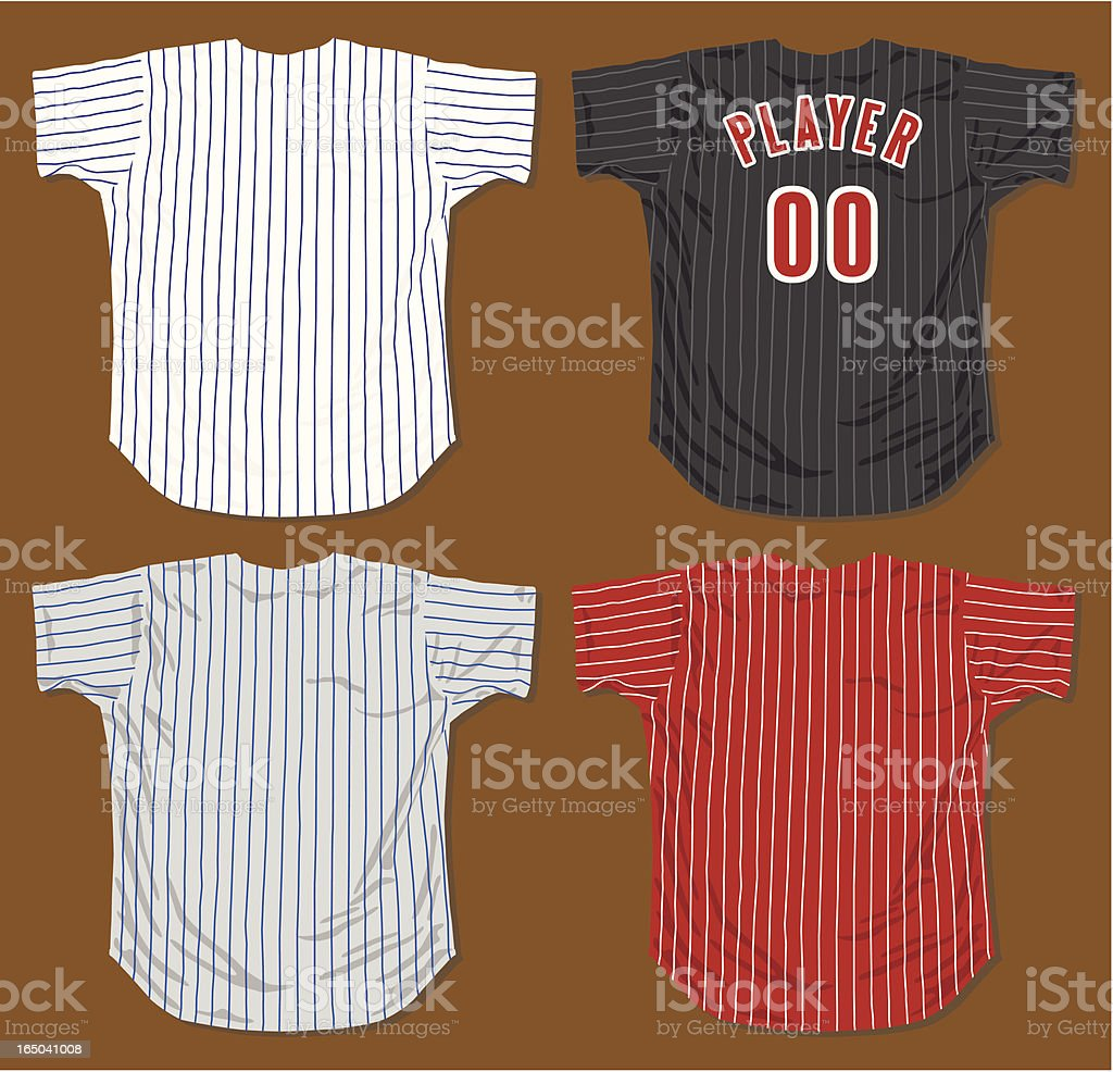 Baseball Jerseys royalty-free stock vector art