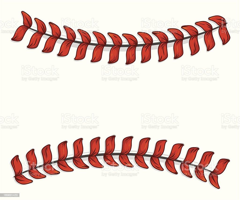 Baseball Laces royalty-free stock vector art