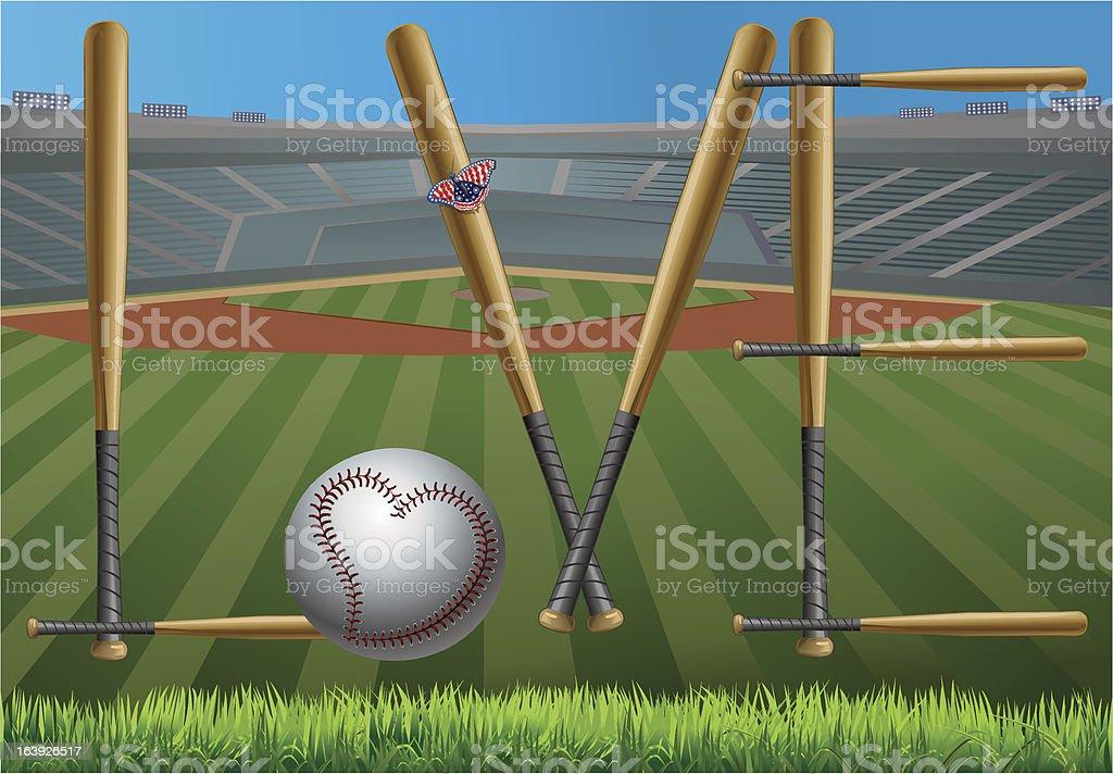 Baseball love royalty-free stock vector art