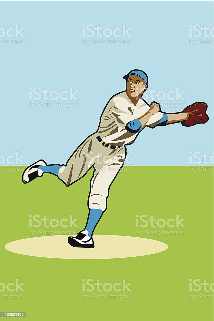 baseball player royalty-free stock vector art