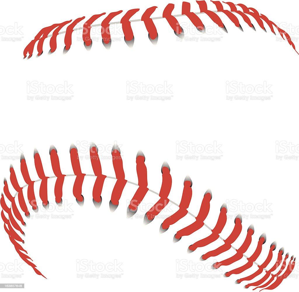 Baseball Seams royalty-free stock vector art