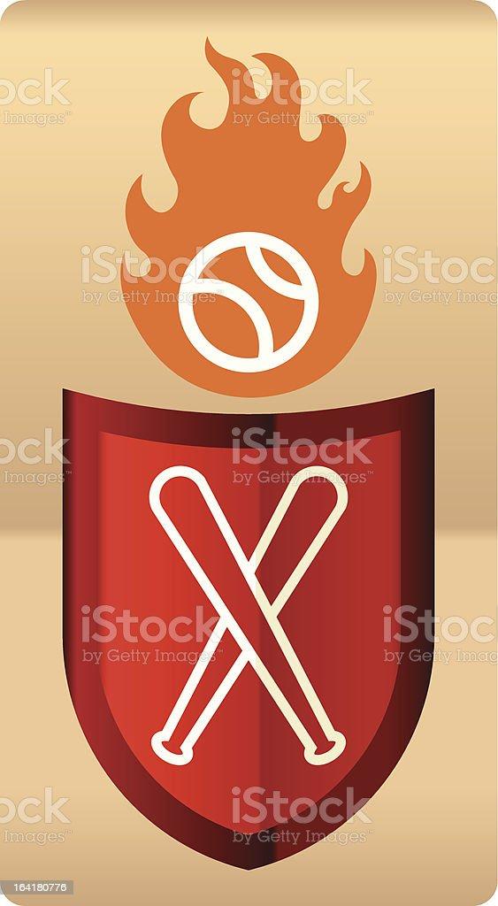 Baseball shield (vector) royalty-free stock vector art