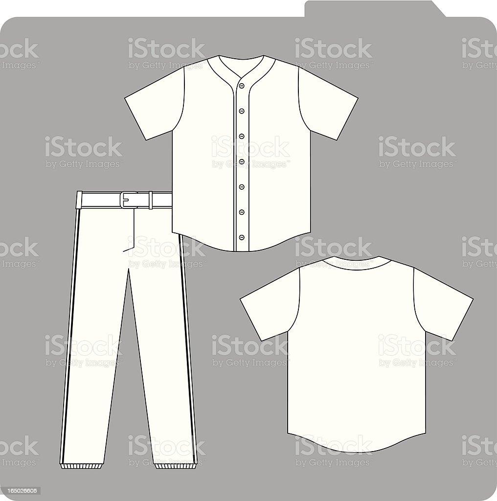 Baseball Uniform Template vector art illustration
