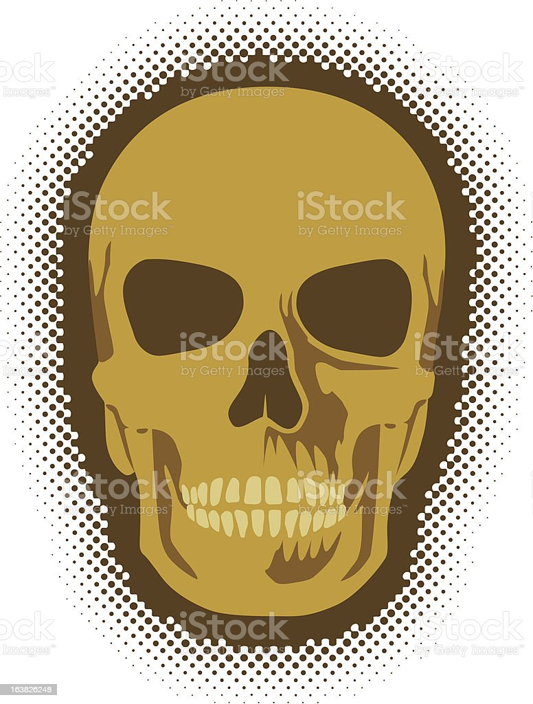 Basic Skull royalty-free stock vector art