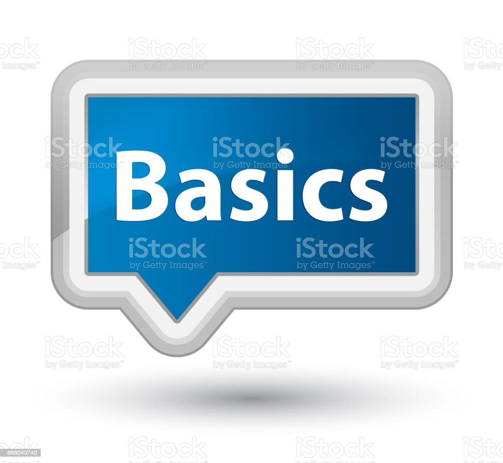 Basics prime blue banner button vector art illustration
