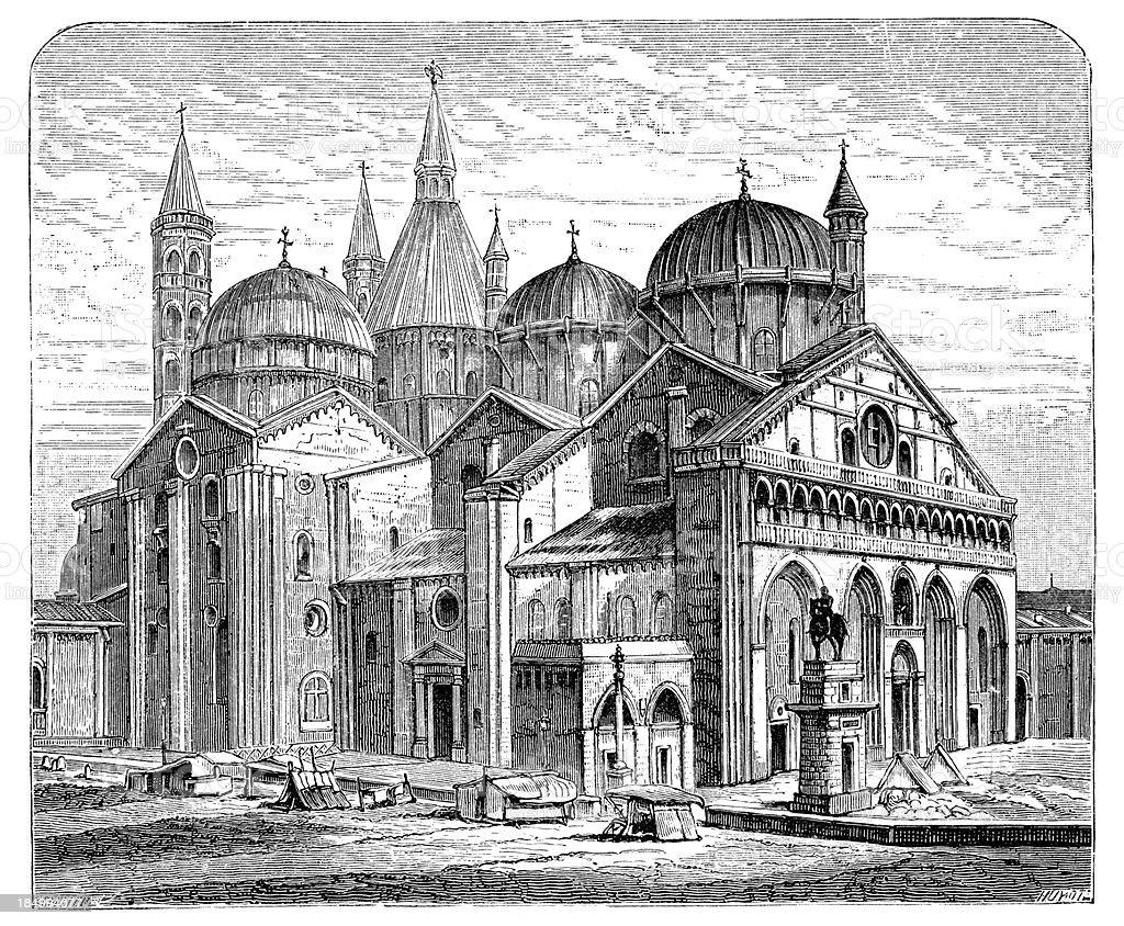 Basilica of Saint Anthony - Padua royalty-free stock vector art