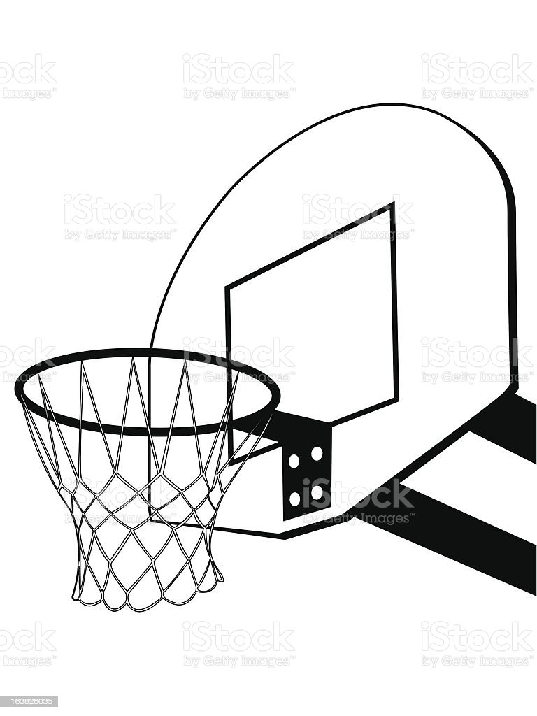 Basketball backboard silhouette royalty-free stock vector art
