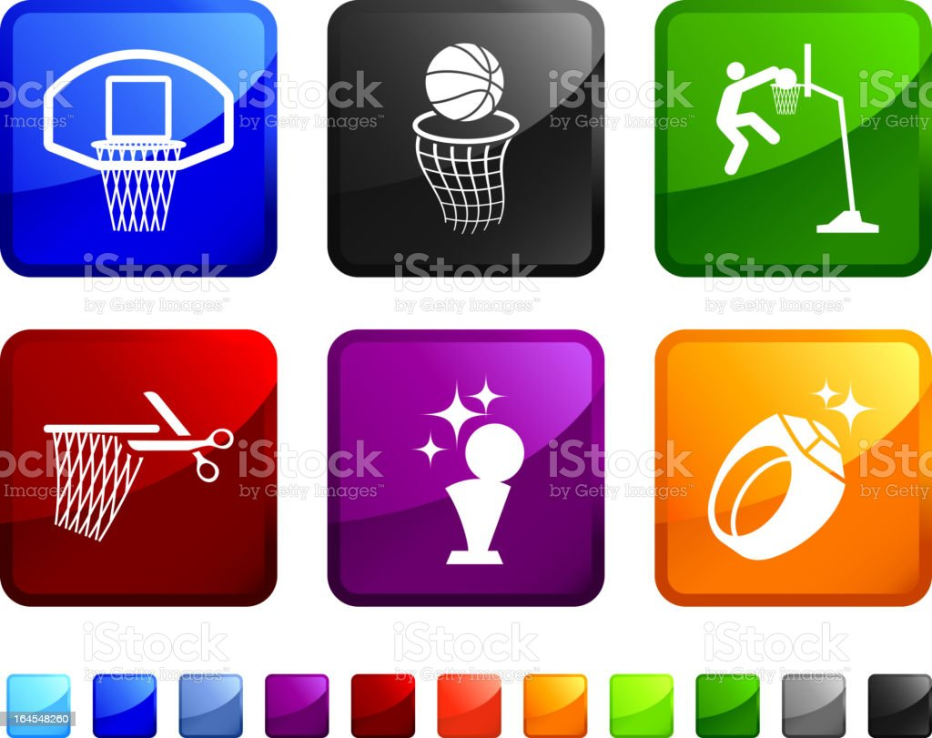 Basketball Championship royalty free vector icon set stickers royalty-free stock vector art