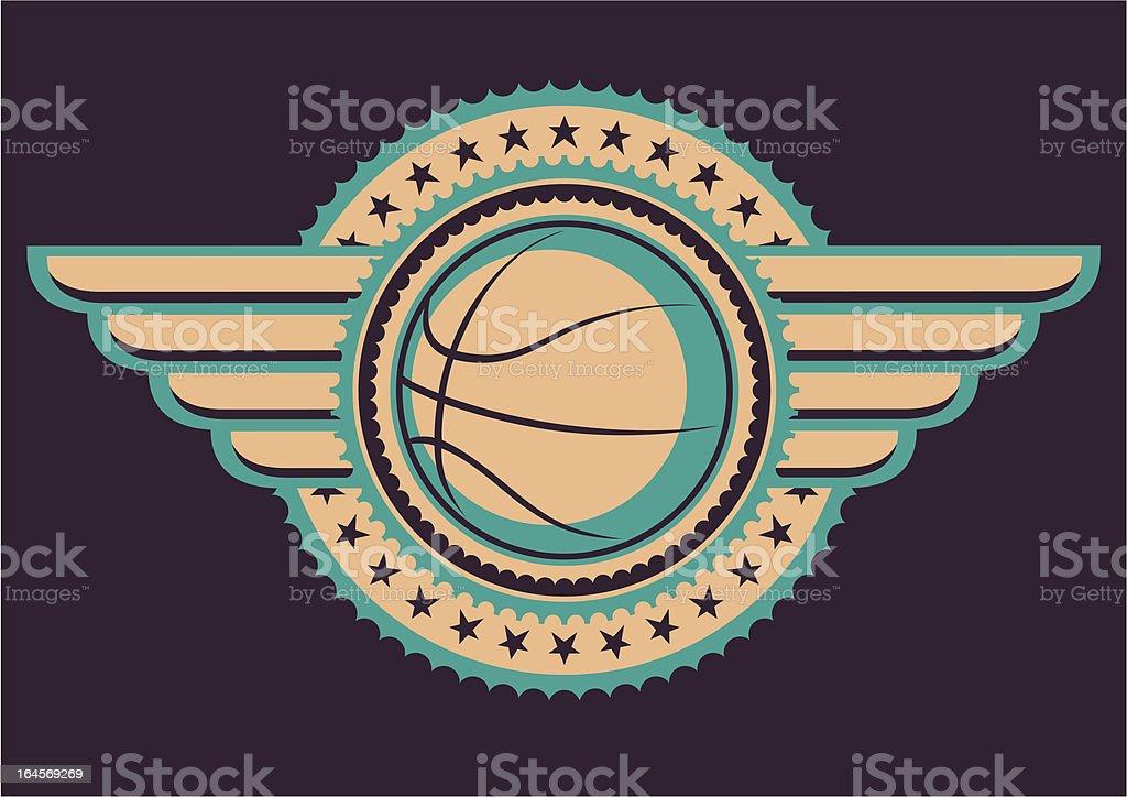 Basketball emblem. royalty-free stock vector art