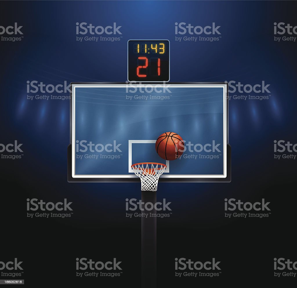 Basketball Hoop royalty-free stock vector art