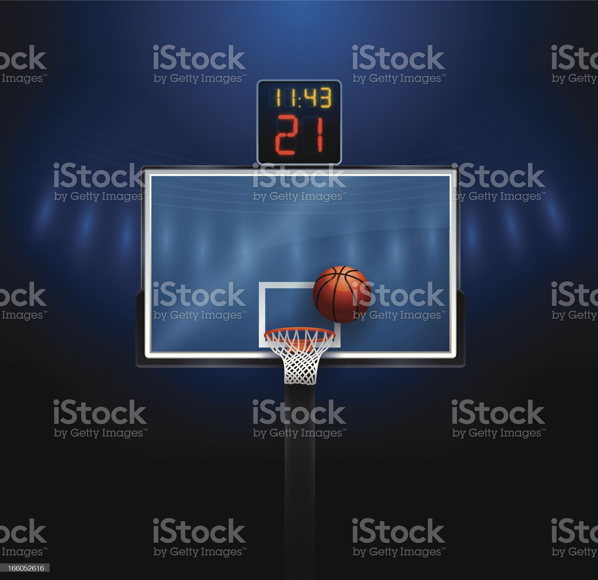 Basketball Hoop royalty-free stock vector art