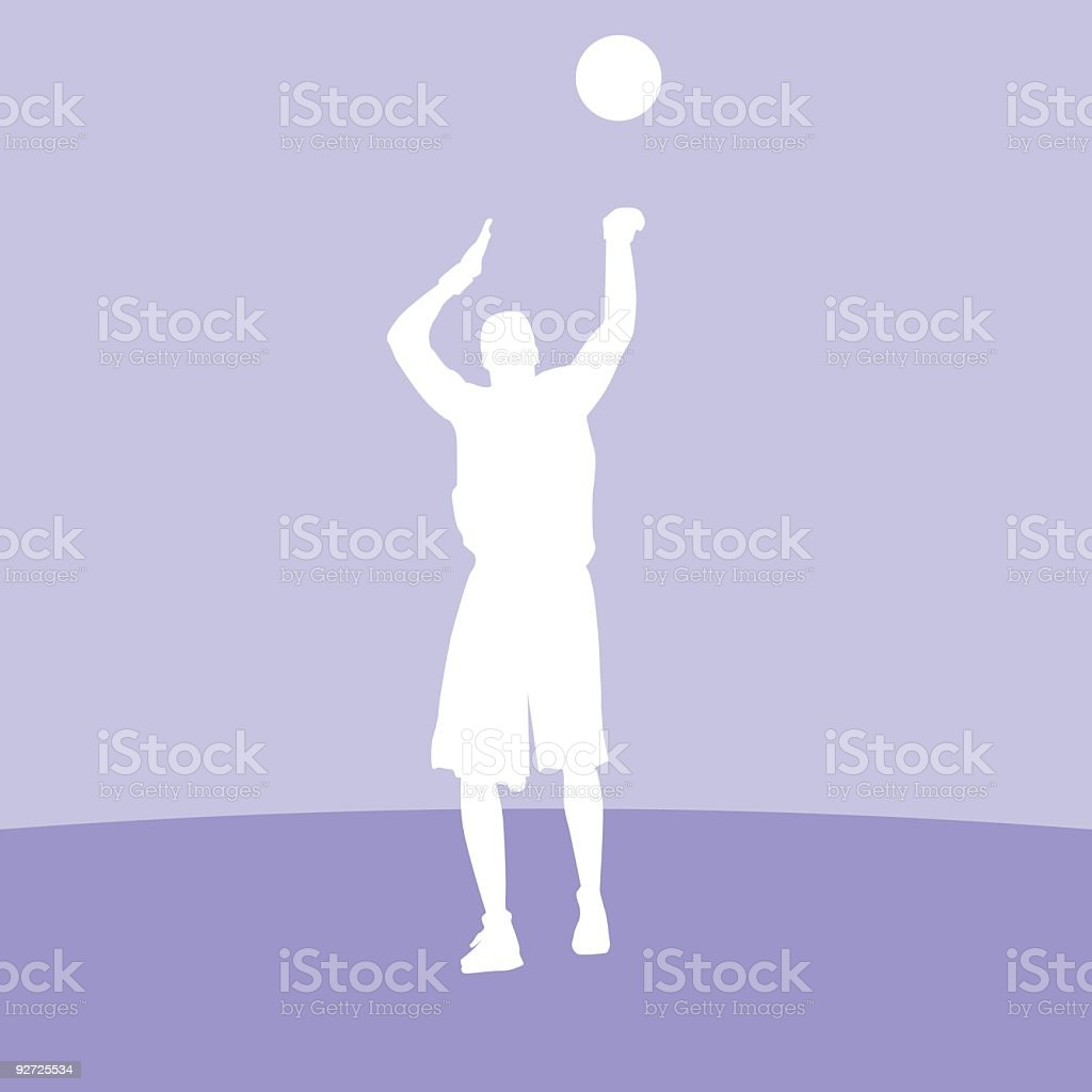 Basketball Player Silhouette royalty-free stock vector art