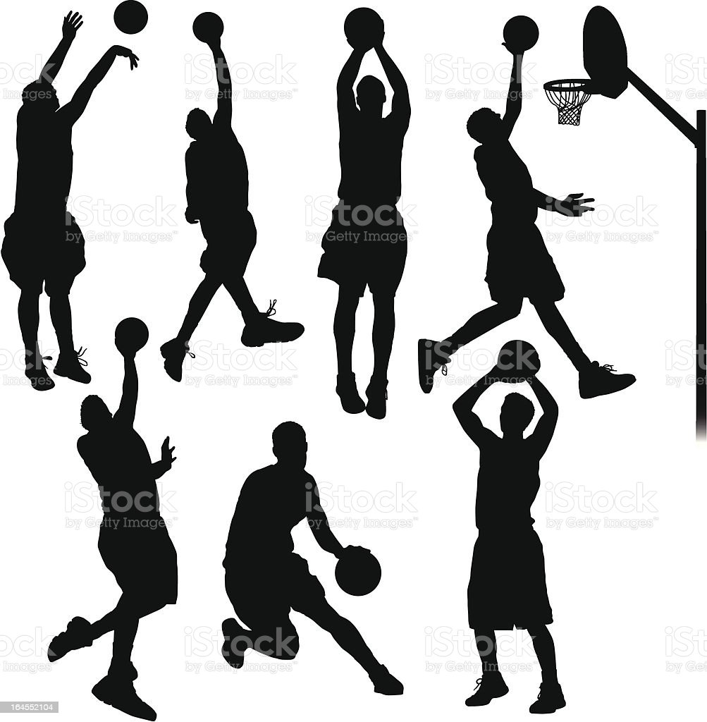 Basketball Players vector art illustration