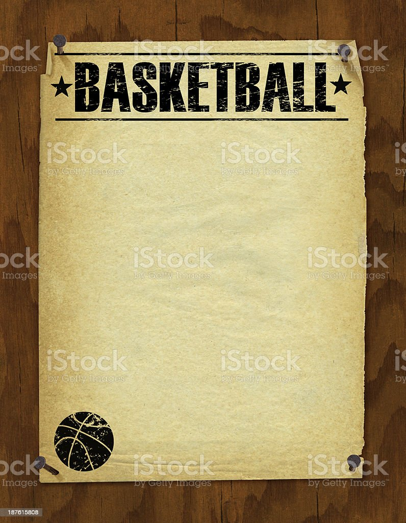 Basketball Poster Background - Retro royalty-free stock vector art