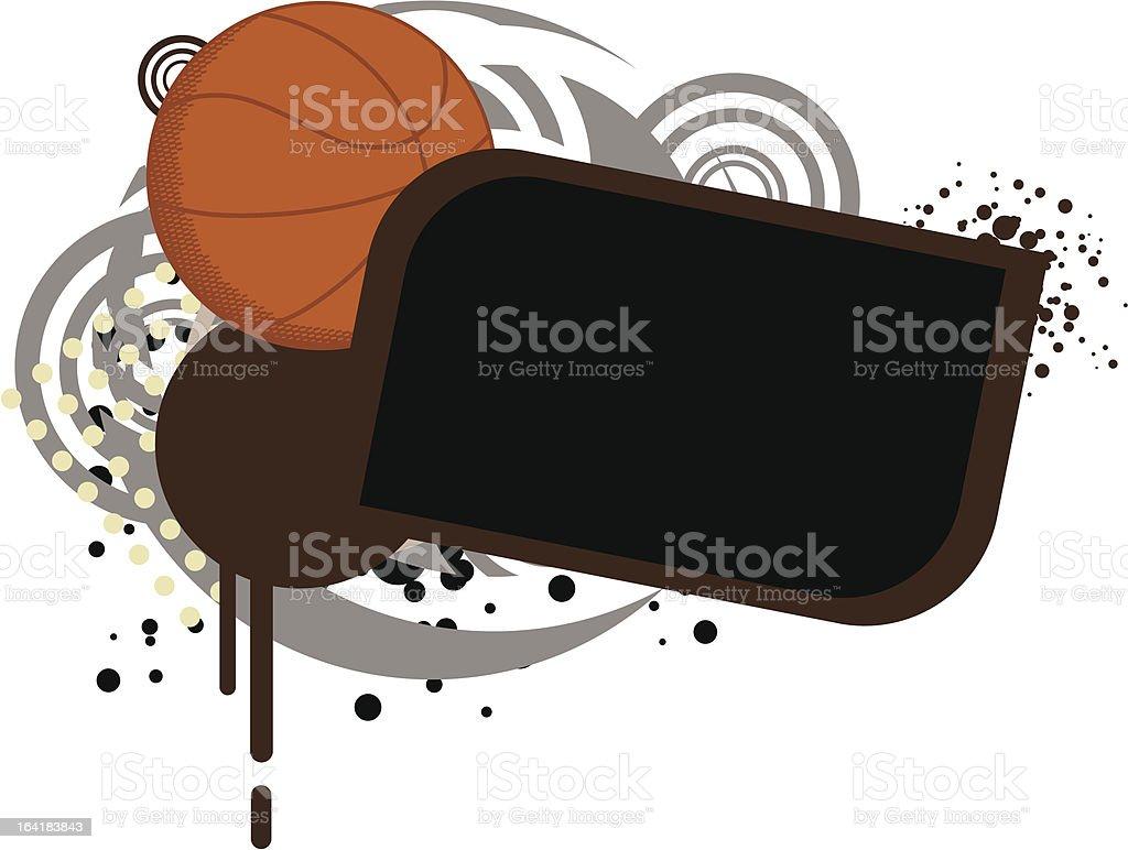 Basketball Template royalty-free stock vector art