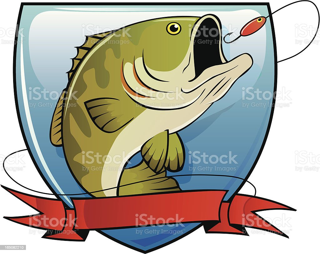 bass fishing royalty-free stock vector art
