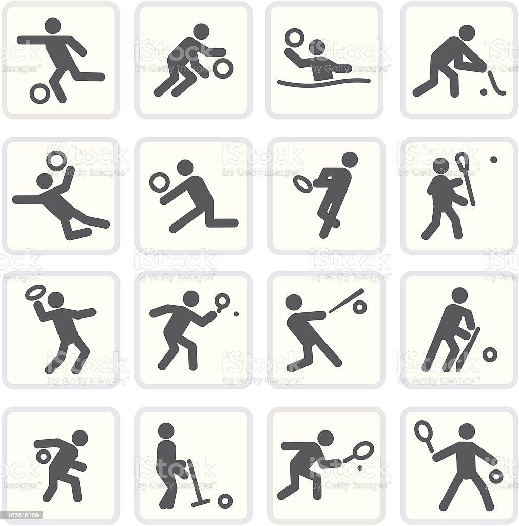 Bat & Ball Sports - Raw Collection vector art illustration