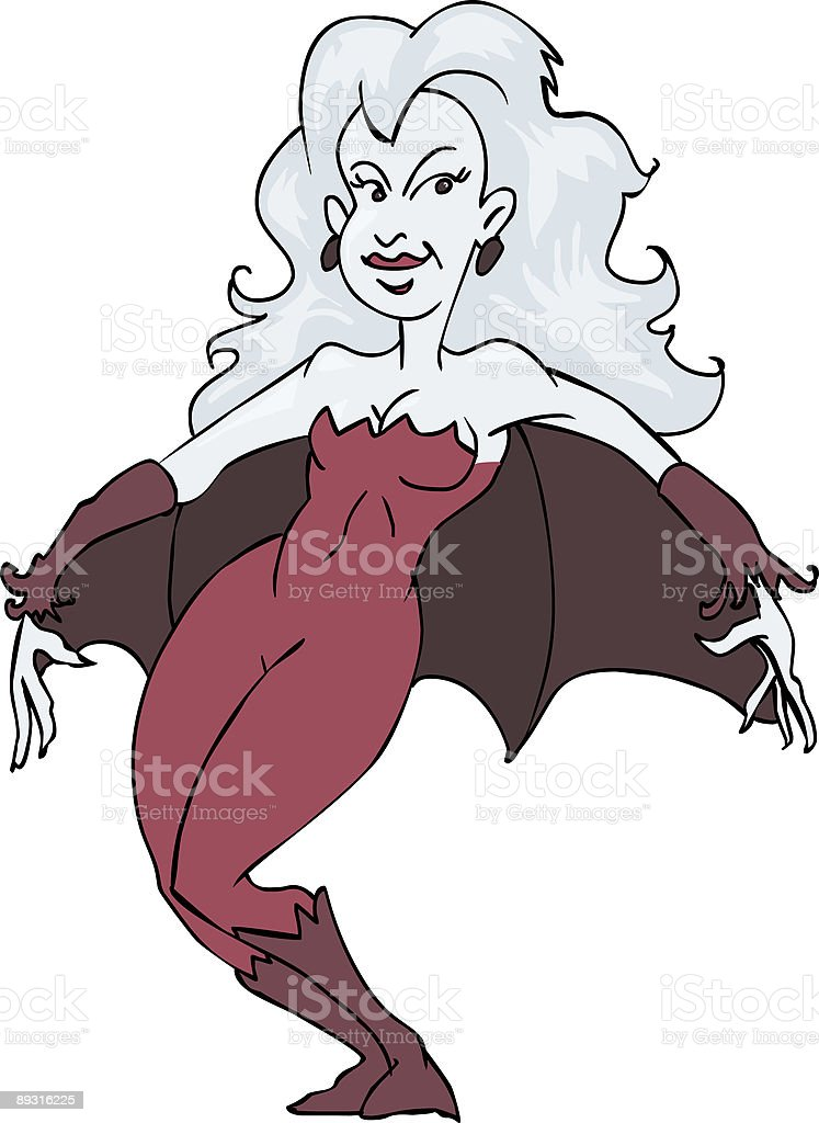 Bat Wing Woman royalty-free stock vector art