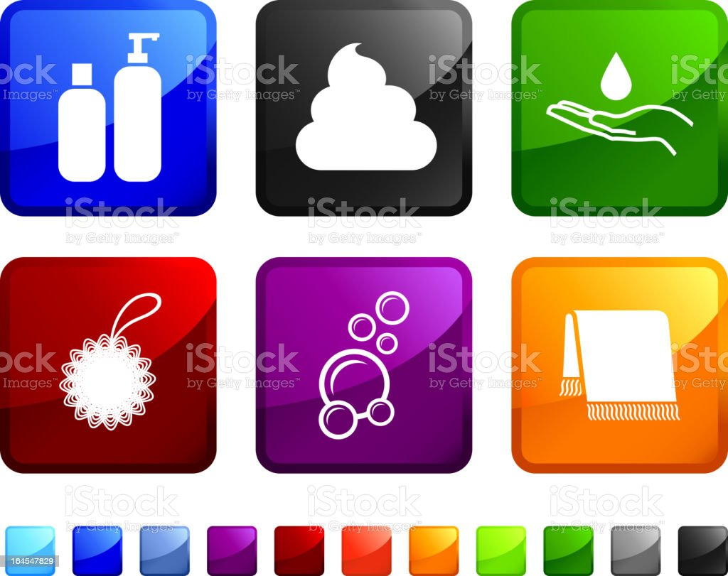 bath accessories royalty free vector icon set stickers royalty-free stock vector art