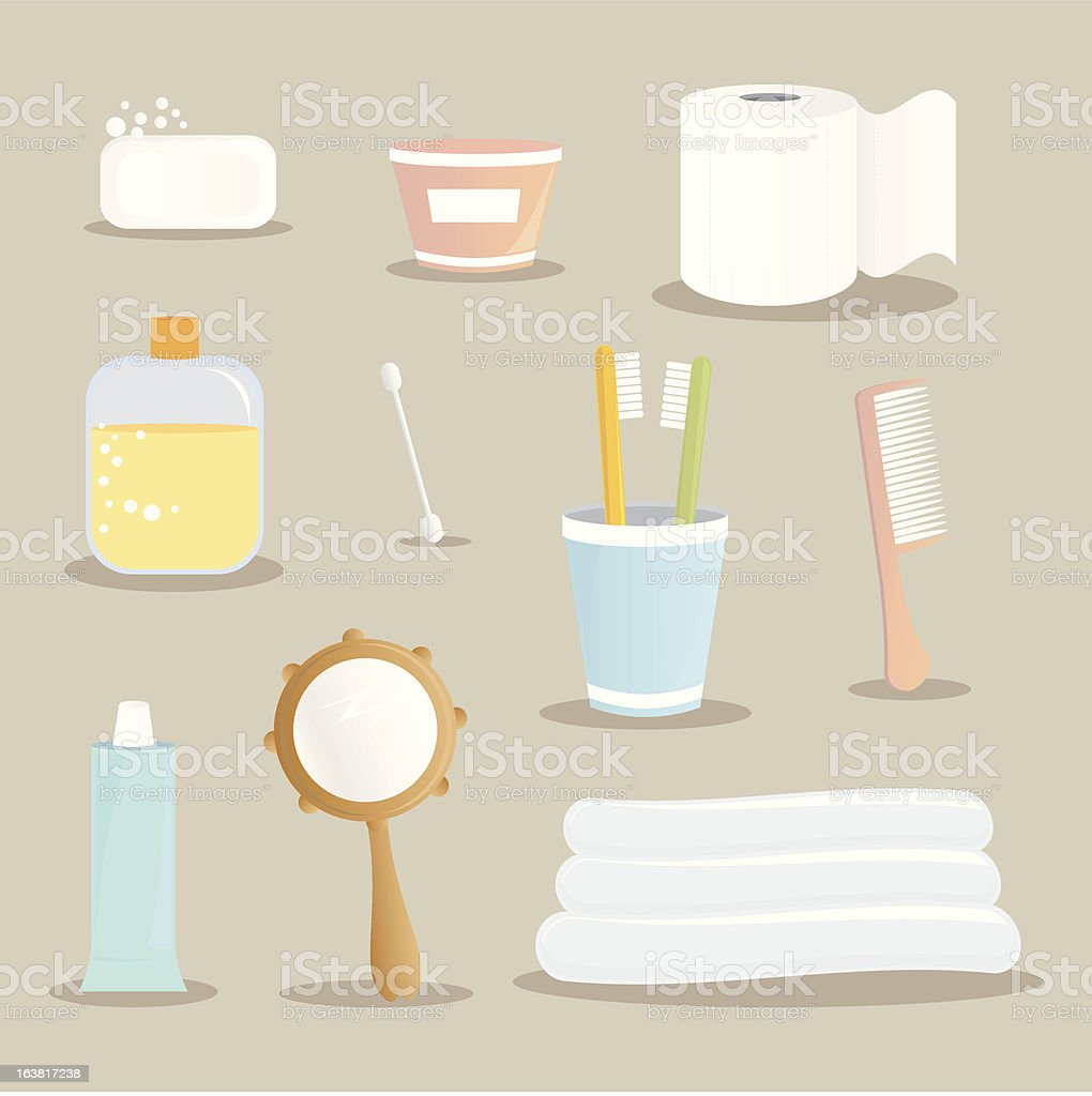 bath set vector art illustration