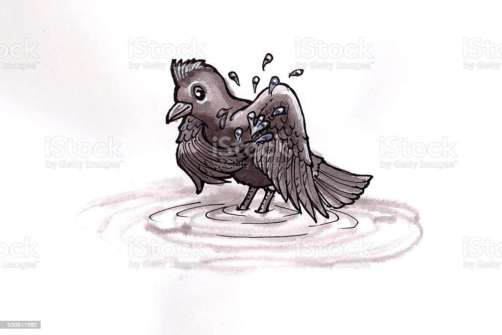 Baden Vögel Lizenzfreies vektor illustration