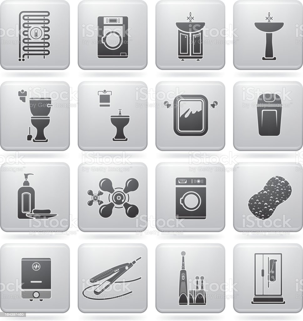 Bathroom Appliances royalty-free stock vector art