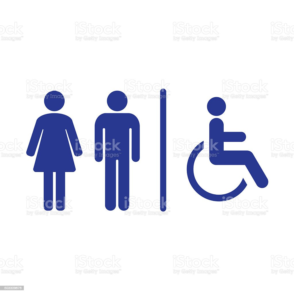 Bathroom Signs Vector restroom sign clip art, vector images & illustrations - istock