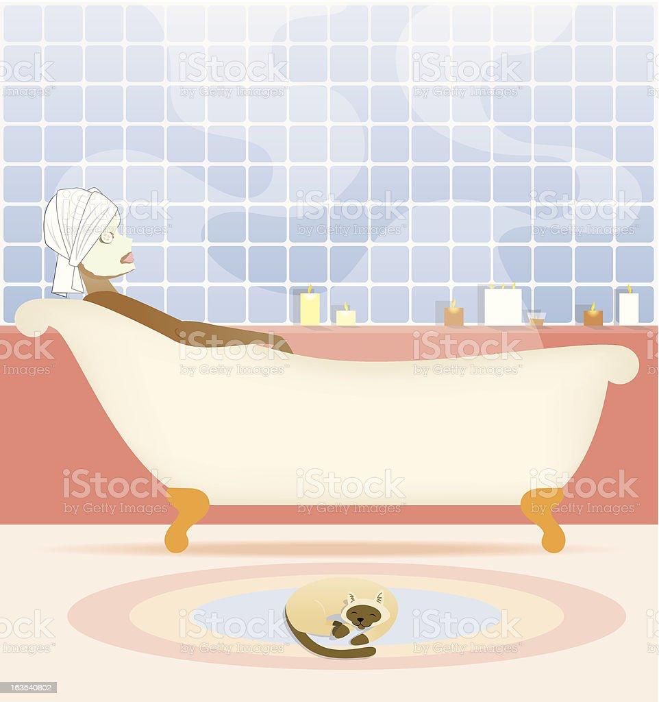 Bathtime royalty-free stock vector art