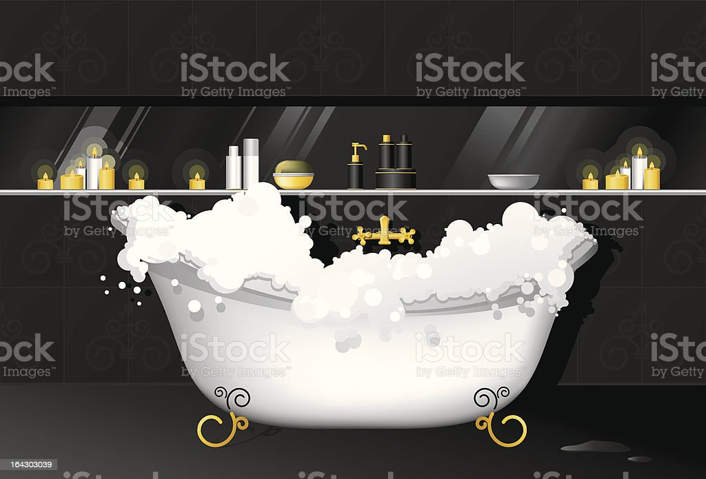 Bathtub royalty-free stock vector art