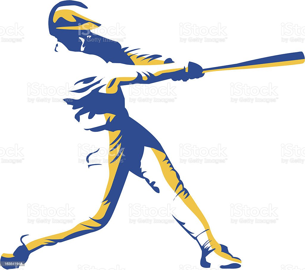 Batter Up vector art illustration