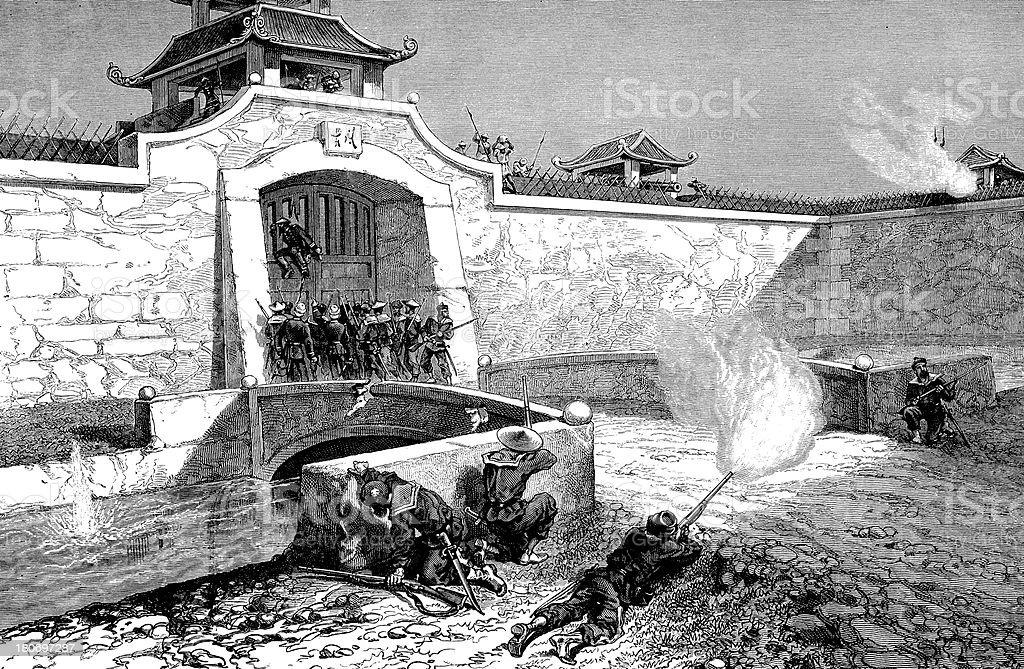 Battle in Vietnam royalty-free stock vector art