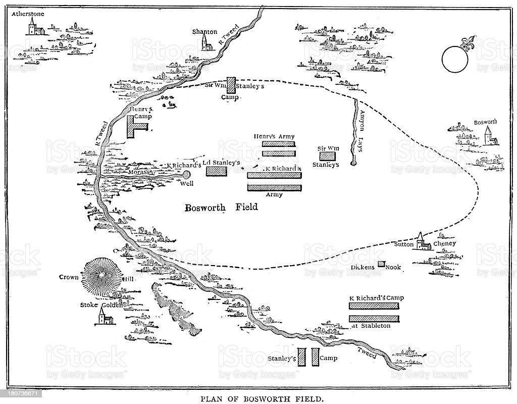 Battle of Bosworth Field vector art illustration