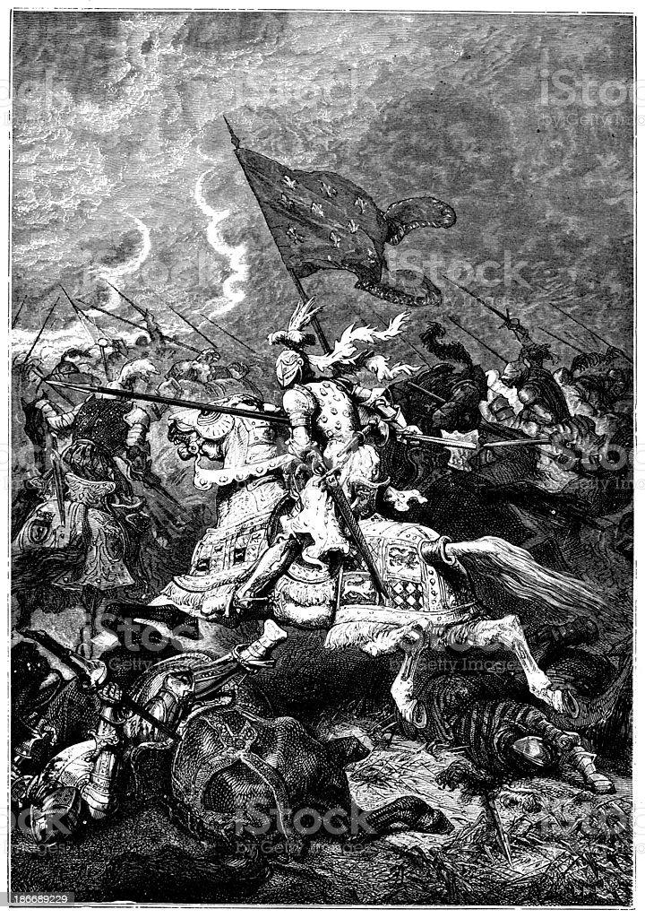 Battle Of Crecy vector art illustration