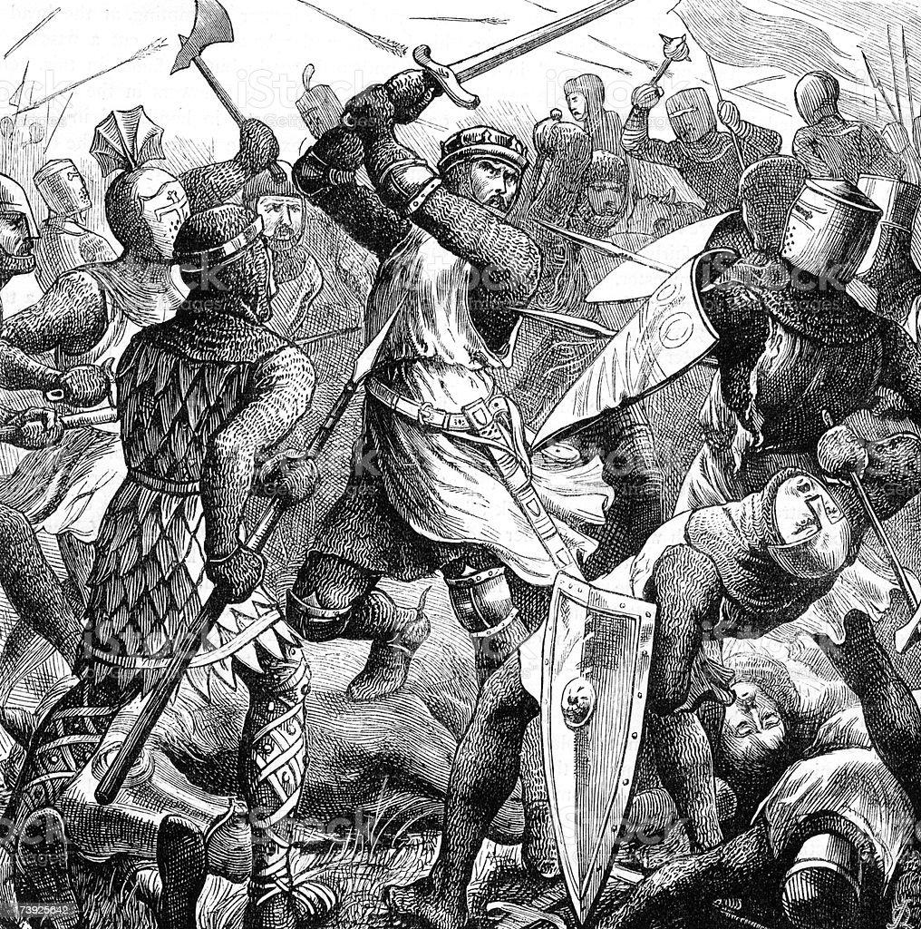 Battle of Evesham vector art illustration