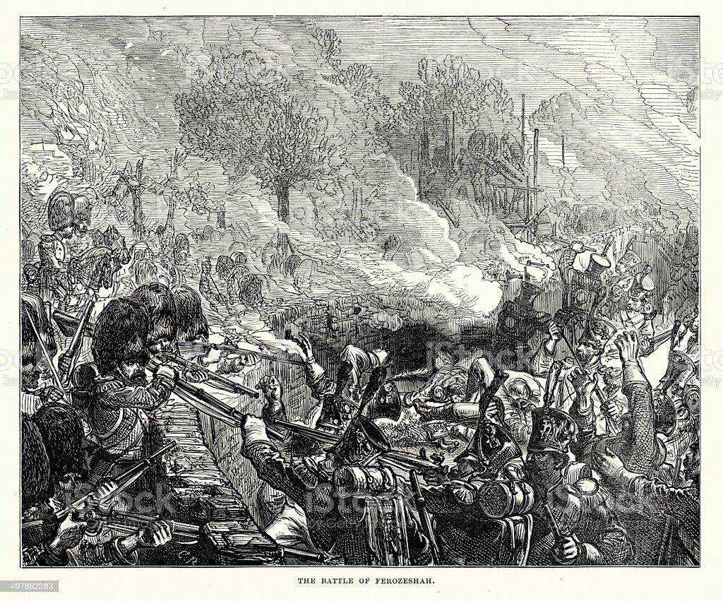 Battle of Ferozeshah royalty-free stock vector art