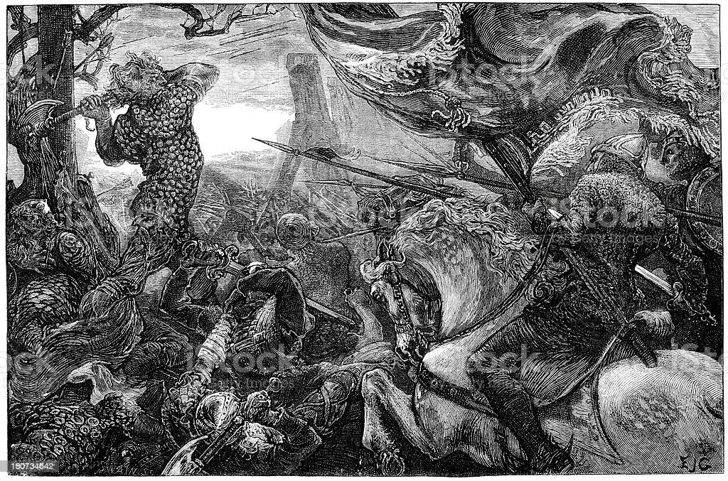 Battle of Hastings 1066 royalty-free stock vector art