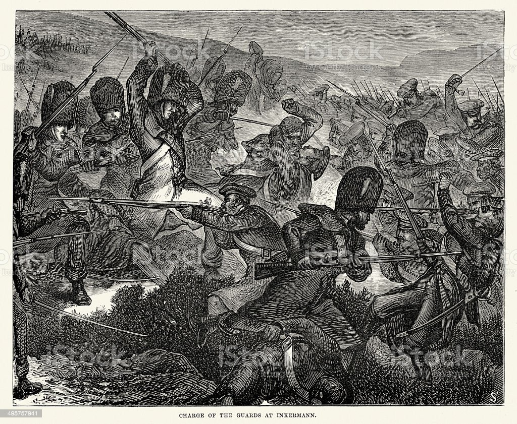 Battle of Inkerman vector art illustration