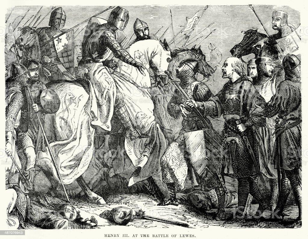 Battle of Lewes vector art illustration