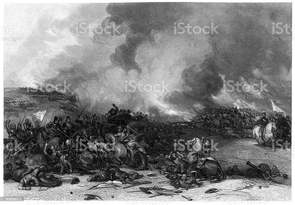 Battle of Naseby vector art illustration