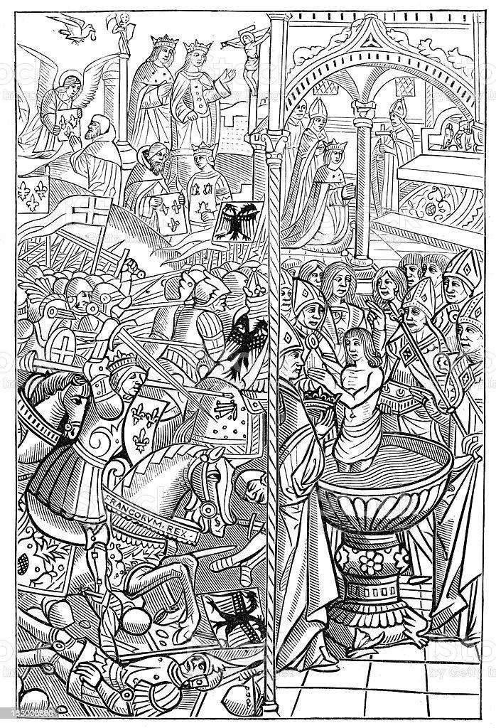 Battle of Tolbiac royalty-free stock vector art