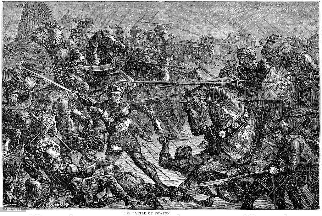 Battle of Towton 1461 royalty-free stock vector art