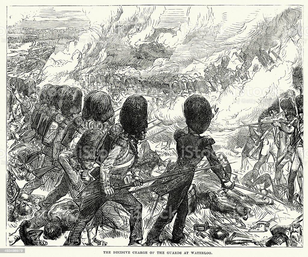 Battle of Waterloo vector art illustration