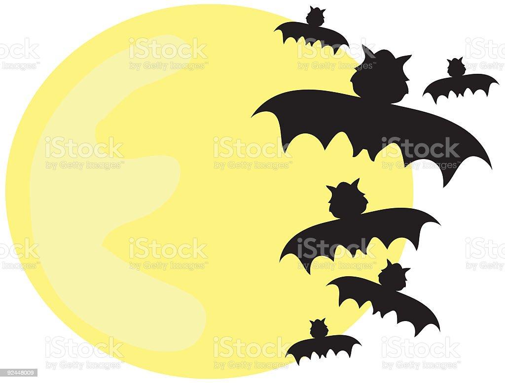 Batty Moon royalty-free stock vector art