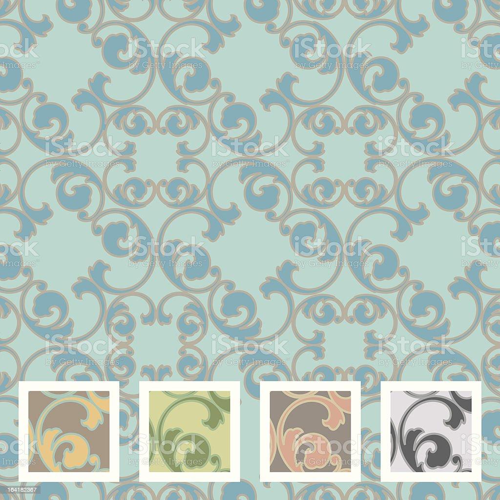 Bayside Wallpaper royalty-free stock vector art