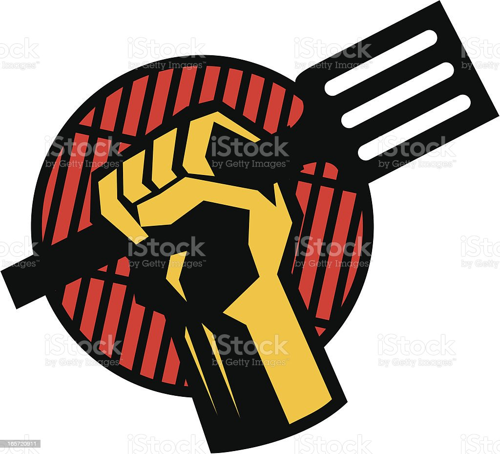 bbq revolt vector art illustration
